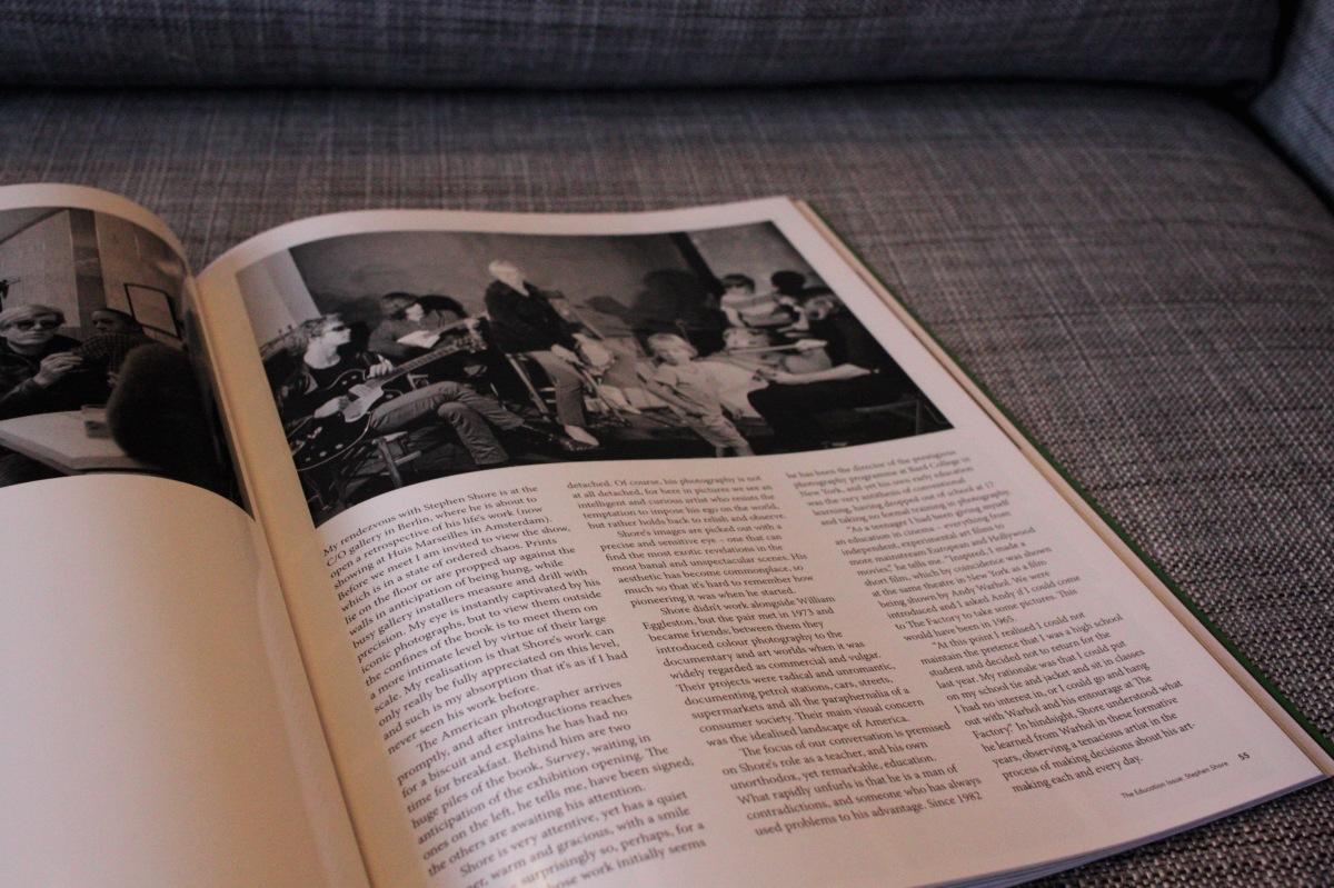 Stephen Shore interview in The British Journal of Photography